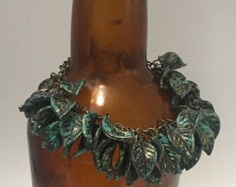 Patina Leaf Bracelet
