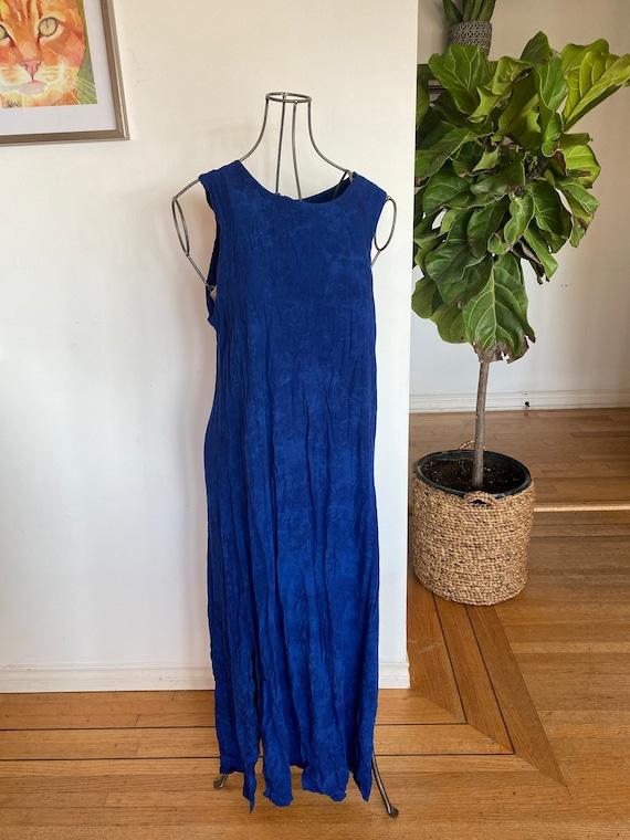 Vintage women's dress / Tie dye dress / Tie dye /