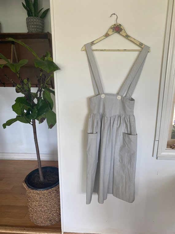 Vintage Women's Pinafore Skirt/ Extra Small/ Small