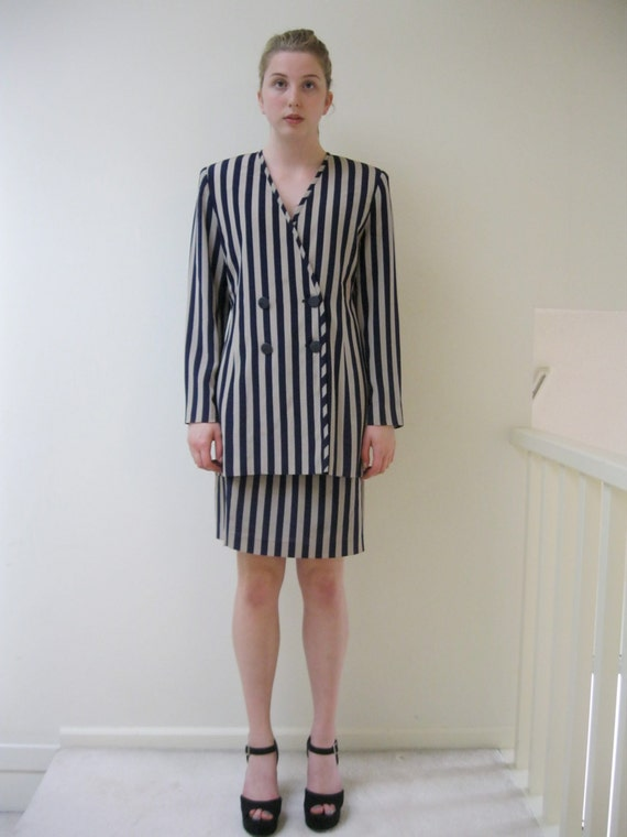 Vintage two piece women's suit / Two piece / Power