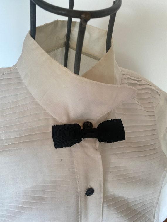 Vintage Women's Blouse / Vintage White Blouse / Sm