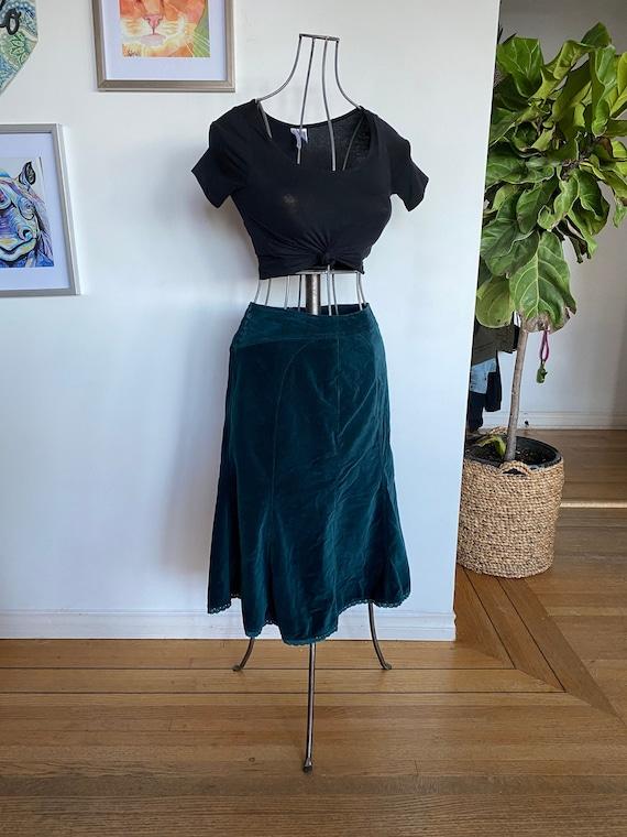 Vintage women's skirt / Skirt / Velvet / Velvet sk