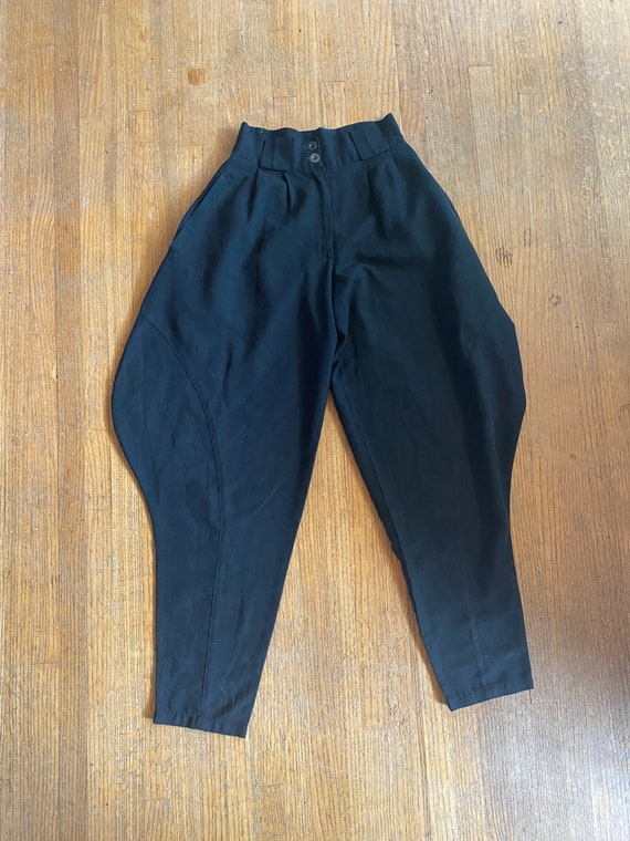 Women's Vintage Harem Pants / Black harem pants /