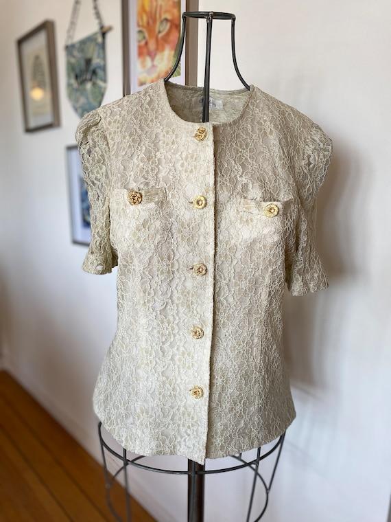 Vintage women's blouse / Lace Blouse / Lace / Wome