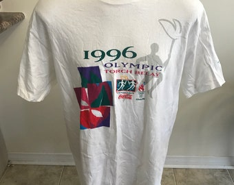 Vintage Atlanta 1996 Olympic torch relay t shirt size xl