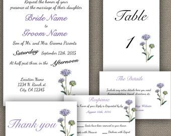 Purple Wildflower Simple Wedding Package