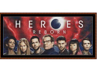 HEROES REBORN Cross Stitch Chart ( pattern )