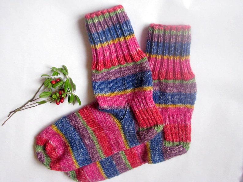 Hand Knitted Wool Socks Sleeping Socks Warm Winter Socks Etsy