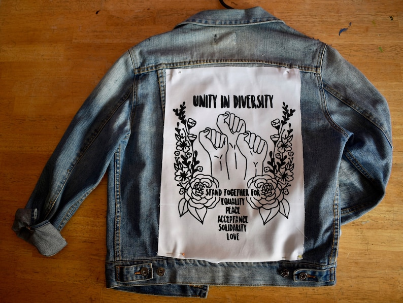 Unity In Diversity - Screen Printed, 100% Cotton, Sew on Patch