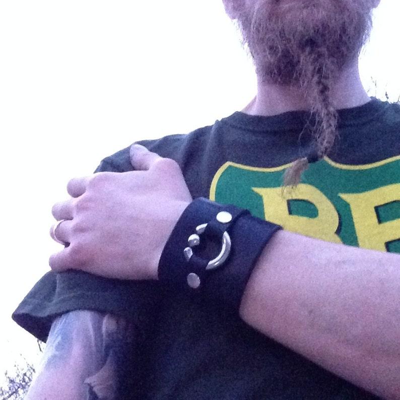 Leather Cuff Piercing Bracelet image 0