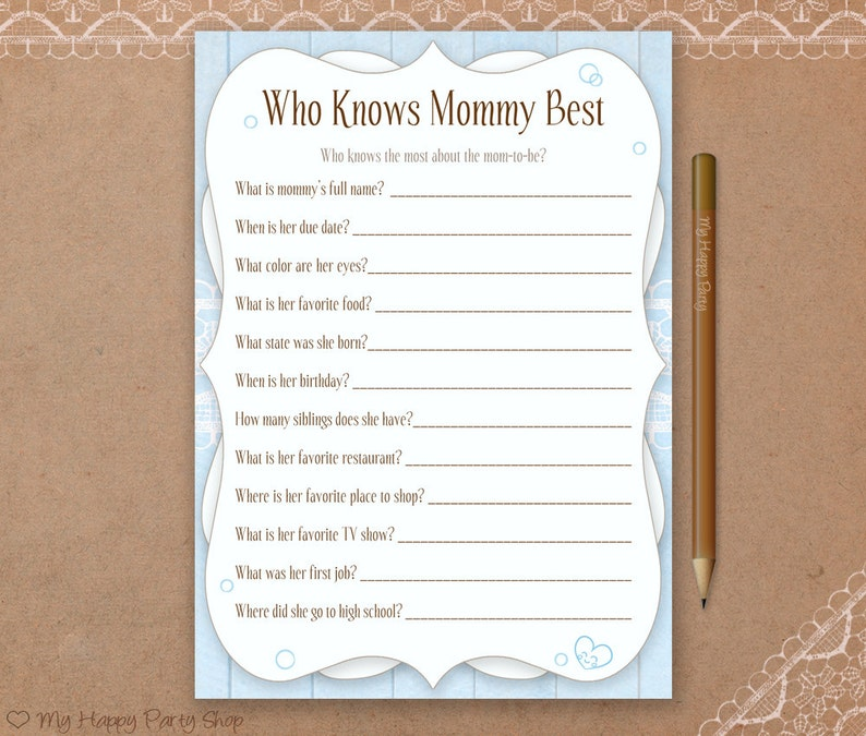image relating to Who Knows Mommy Best Printable identify Who Understands Mommy Perfect Card, Printable, Boy Child Shower Game titles, Blue Child Shower, Blue Who Appreciates Mommy, quick obtain, Shabby Stylish Shower
