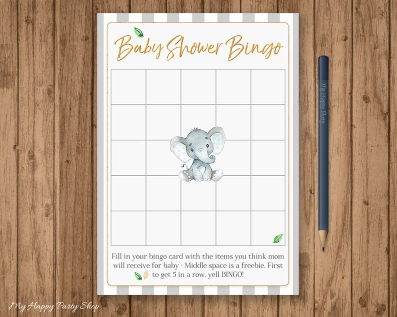 elephant wishes for baby card baby shower printable game.html