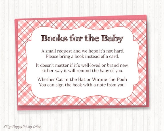 Pink Chalkboard BaByQ Printable Baby Shower BBQ Book Request Cards