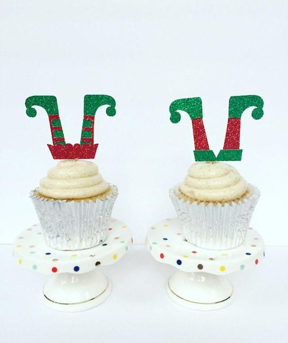 Boy And Girl Elf Cupcake Toppers Gender Reveal Elf Cupcake Etsy