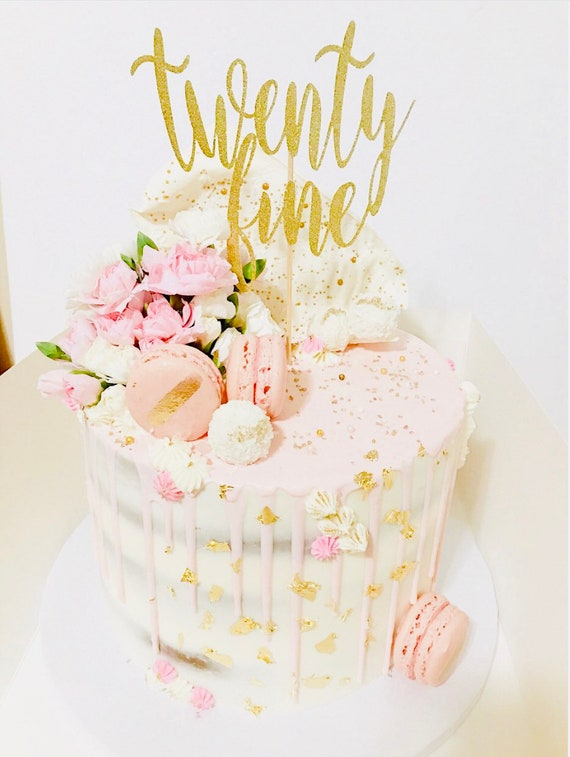 Brilliant Twenty Fine Cake Topper 29Th Birthday 25Th Birthday Etsy Funny Birthday Cards Online Alyptdamsfinfo