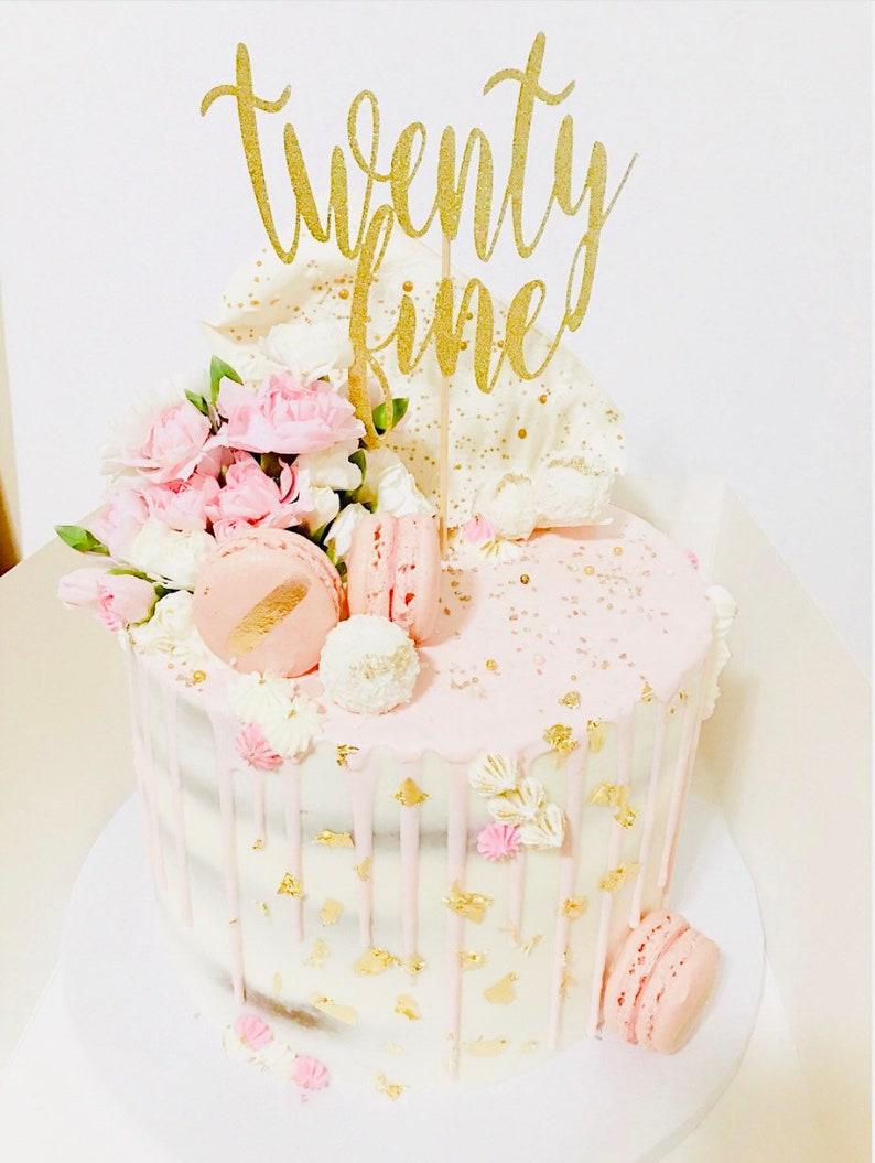 Twenty Fine Cake Topper 29th Birthday 25th
