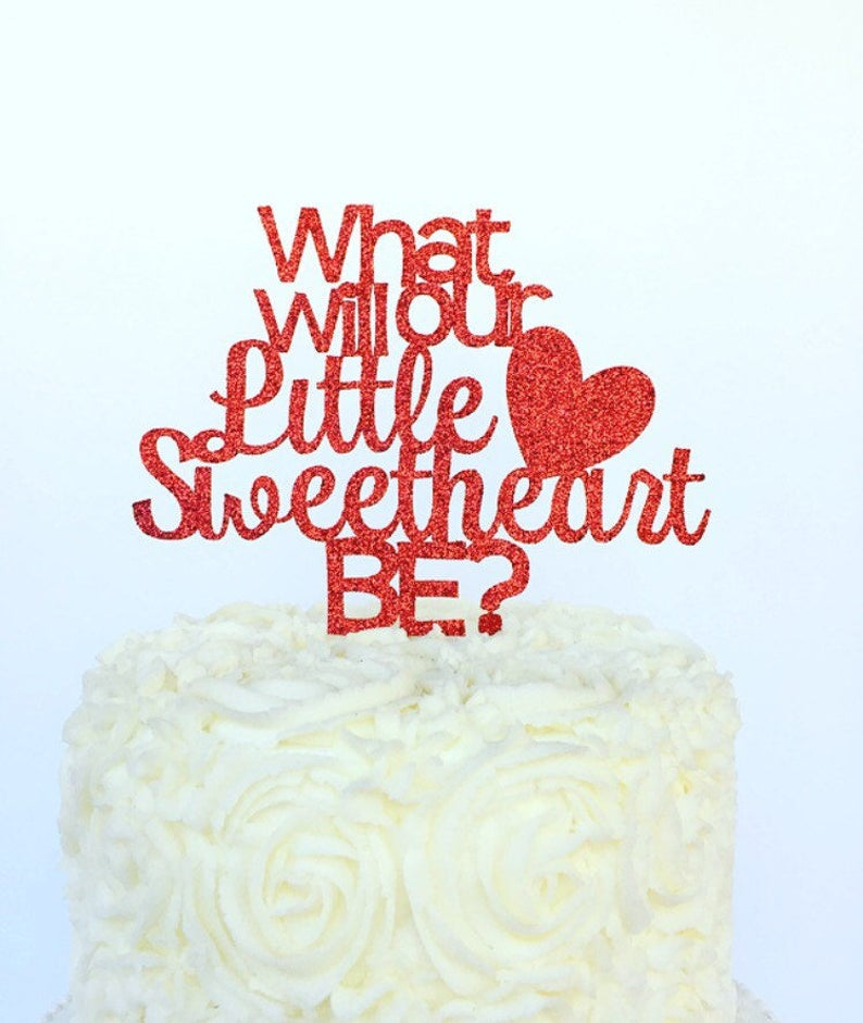 What Will Our Little Sweetheart Be Cake Topper / image 0