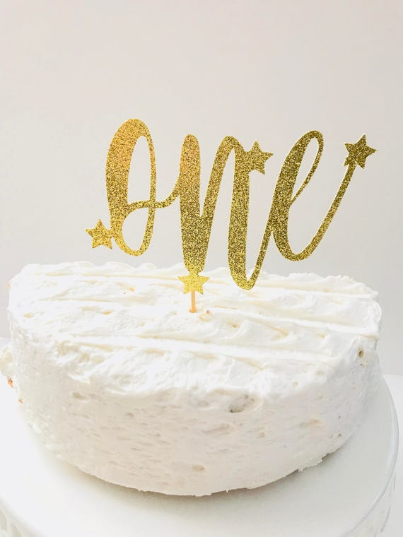 Twinkle Twinkle Birthday Cake Topper One Glitter Age Cake