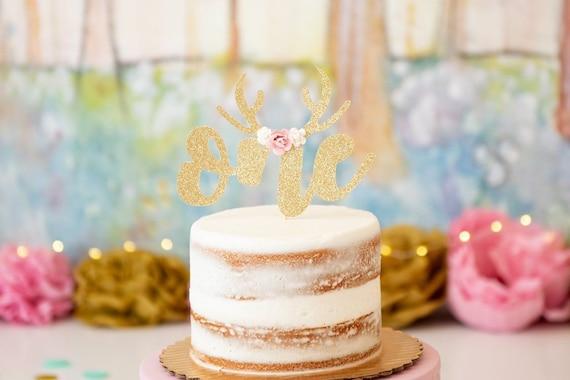 Wondrous Oh Deer Birthday Age Cake Topper First Birthday Cake Topper Etsy Birthday Cards Printable Inklcafe Filternl