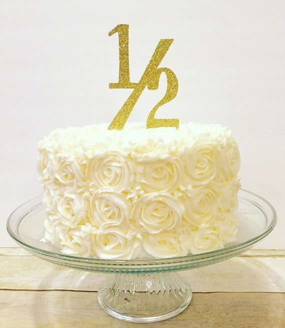1 2 Birthday Cake Topper