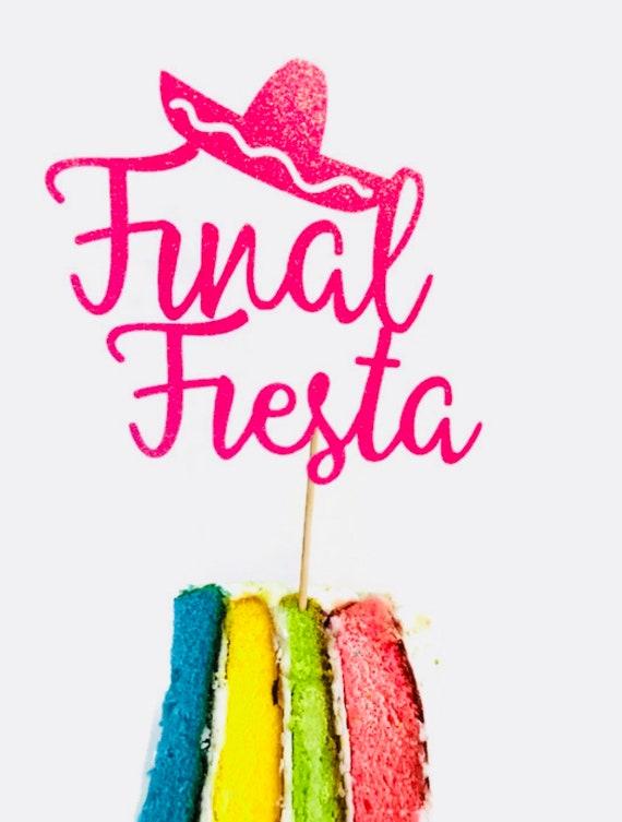 Cake Toppers Birthday Party 12 Fiesta Cupcake Toppers Taco Toppers Mardi Gras Fiesta First Birthday Fiesta Shower