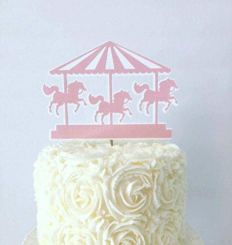 Carousel Cake Topper Vintage Circus Circus Birthday Party