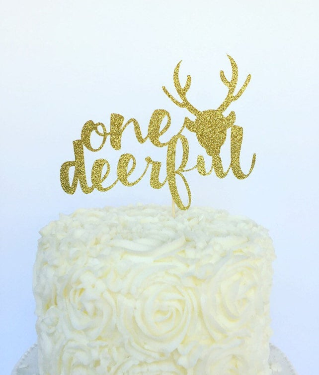 One Deer Ful Cake Topper First Birthday Hunting