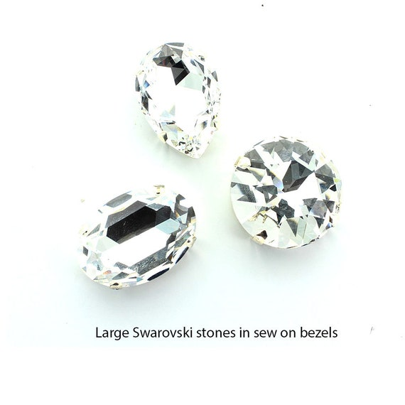 or Black Diamond. 10 x Acrylic Large Square Sew-on Stones//Gems//Jewels Crystal
