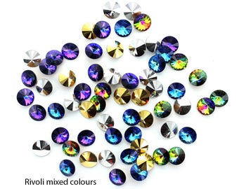 Rivoli stones 8mm (SS39).  Made by Preciosa.  Price is for 10 stones