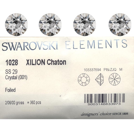 Swarovski SS29 Article 1028 crystal stones. Price is for 10 stones