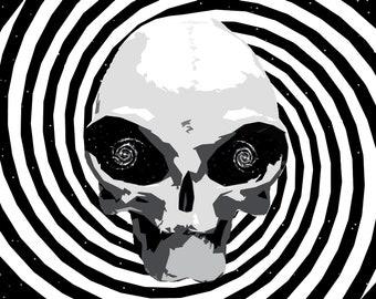 586eb77410f35 Alien Hypnosis Print // illustration // alien art // space art // galaxy  art // vector