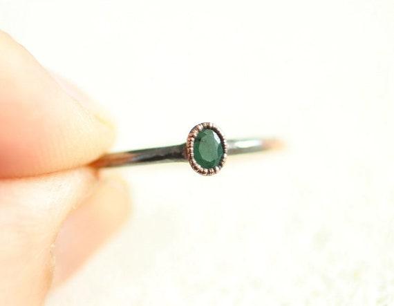 Resin Ring /'/'Labradorite/'/' Resin faceted stacking ring Copper flakes ring Wedding ring Bohemian ring