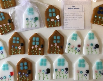 Fused glass, fairy door, fairies, elf doors, childrens room decor, small gifts, magical door, childrens gifts, Christmas gifts