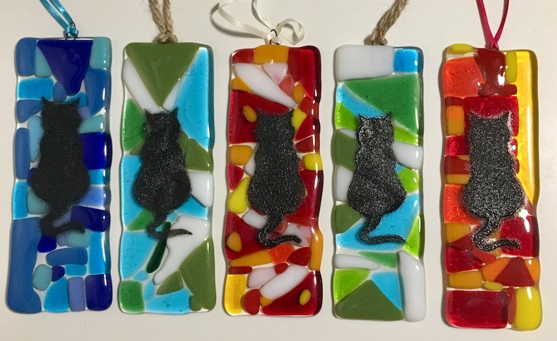 Fused Glass Sun Catcher Cat Lovers Gifts
