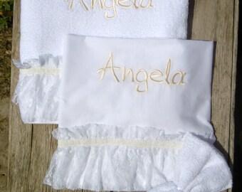 Personalized Girls Christening Undergarments