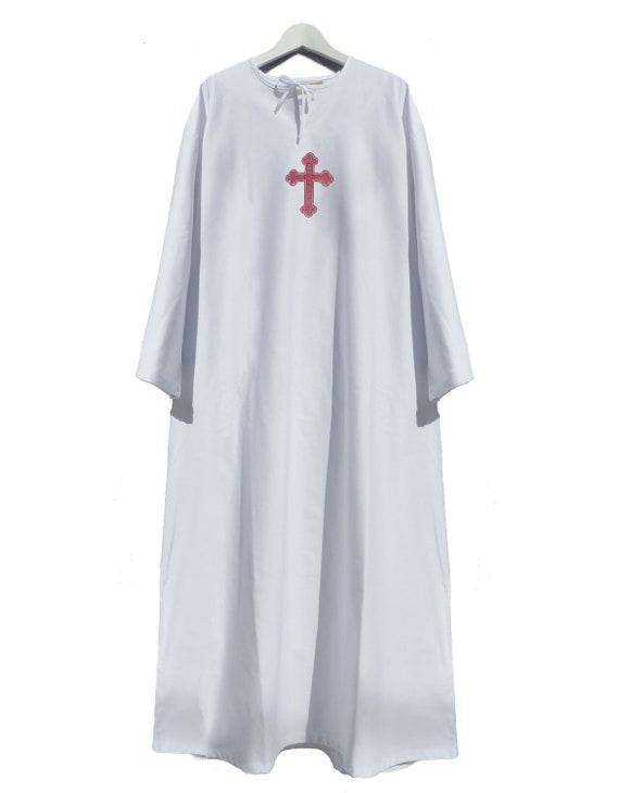 Taufetaufrobe Für Erwachsene Mit Orthodoxem Kreuz