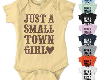 Small Town Girl New Parents Baby Shower Gifts Funny Saying Toddler Infant T