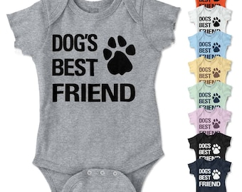 Dog's Best Friend New Parents Baby Shower Gifts Funny Saying Romper Bodysuit