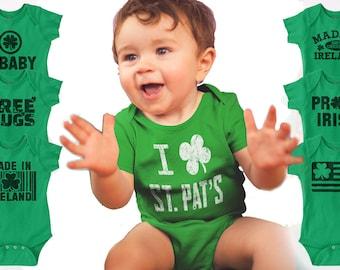 St Patrick's Day Irish Cute Funny Baby Romper Bodysuit