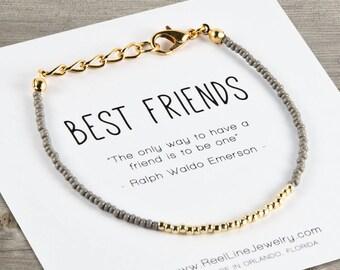 Gold Best Friends Bracelet Beads, Friendship Bracelet, Best Friend Gift, Best Friend Friendship Bracelet, Best Friend Bracelets