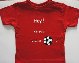 Short Sleeve T-shirt, red, 'Football' theme.
