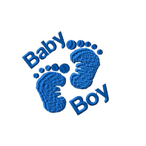 baby boy feet machine embroidery design