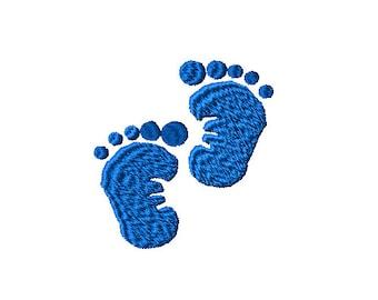 Baby Feet Machine Embroidery Design 3 sizes
