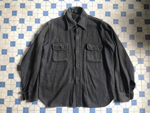 Vintage Navy Military CPO Wool Shirt RRL McCoy Fre