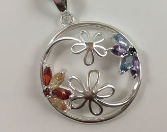 Circle of Flowers Pendant