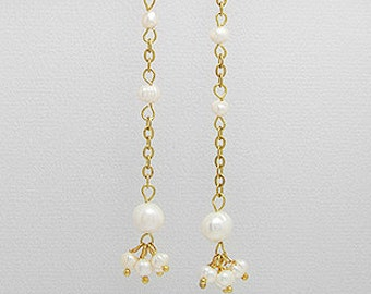Gold color and Pearl Earrings