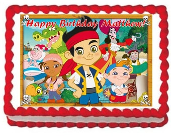 Jake and the Neverland Pirates Frosting Sheet Edible Cake Topper Image 1/4 Sheet