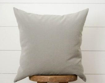 Grey & White Outdoor Pillow Cover