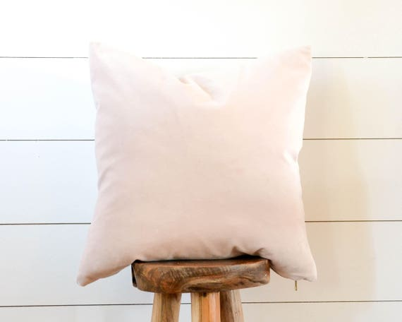 Petal Pink Velvet Pillow Blush Decorative Pillow Pink Velvet Etsy Extraordinary Blush Decorative Pillows