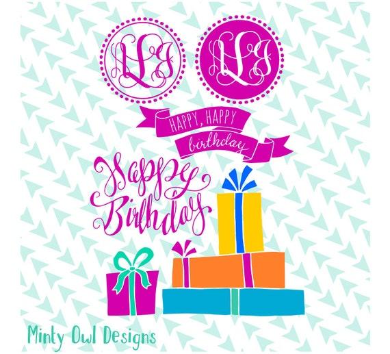 Birthday Pack SVG Cut File Happy Birthday Birthday Card Etsy